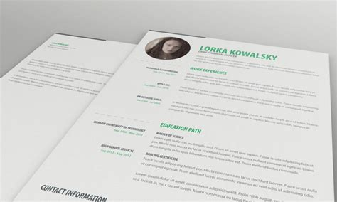 simple creative resume templates free free simple resume cv template cover letter