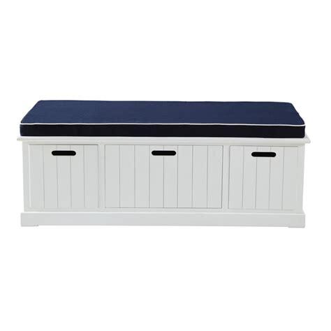 panier basket chambre wooden storage bench in white w 130cm princeton maisons