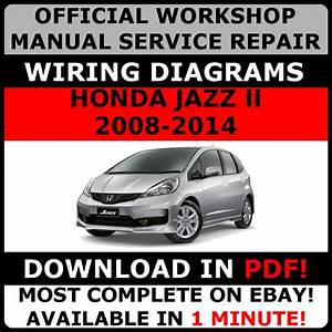 Official Workshop Service Repair Manual For Honda Jazz Ii 2008