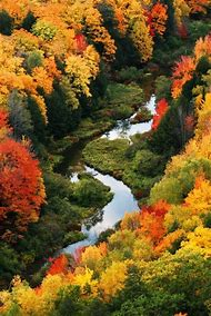 Porcupine Mountains Michigan Fall Colors