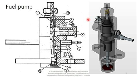 Fuel Pump Assembly Drawing@machine Drawing