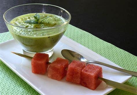 cuisine froide soupe froide de concombre à la menthe ma cuisine santé