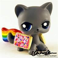 custom pet shop lps cat