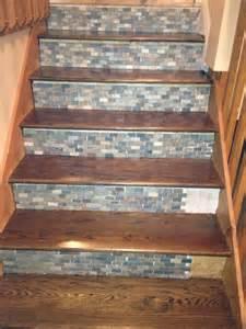 backsplash tile used on stair risers home