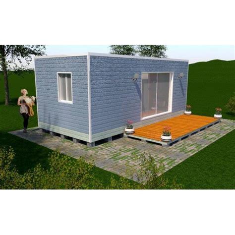 plan maison 1 chambre maison container 21m2