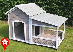 Niche Grand Chien Xxl : niche en bois avec terrasse pour grand chien zolia falco ~ Dailycaller-alerts.com Idées de Décoration
