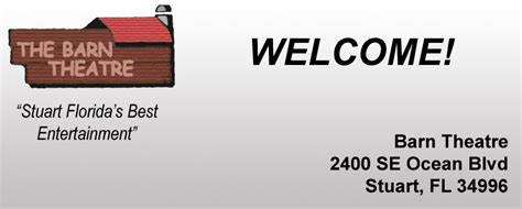Barn Theatre Schedule by Welcome To