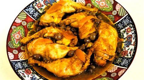 cuisine marocaine poulet tajine de poulet aux olives vertes wepost