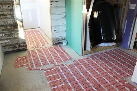 Heated Floors In The Master Bathroom