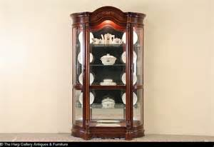 pulaski curved glass curio cabinet sold pulaski cherry curved glass vintage china display