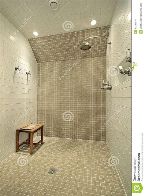 large shower  bench stock image image  suburban
