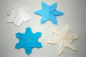 Flocon De Neige En Papier Facile Maternelle : origami facile hiver ~ Melissatoandfro.com Idées de Décoration