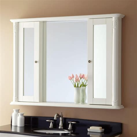 The 2 adjustable shelves offers ample storage. Furniture, Exceptional Medicine Cabinets Recessed Mirror ...