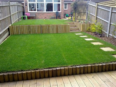 terracing  sloping garden garden yard pinterest