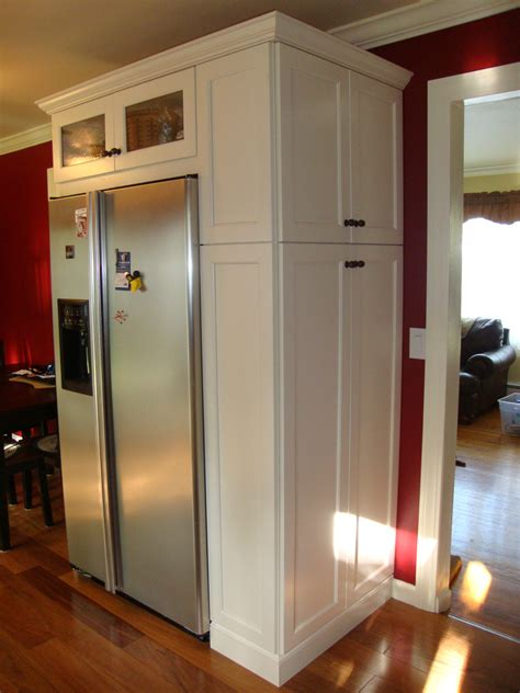 Kitchen Pantry Storage Cabinet Broom Closet by Image Result For Slim Cabinet Next To Refrigerator For