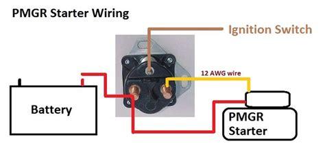 ford   starter solenoid wiring diagram     picture schematic