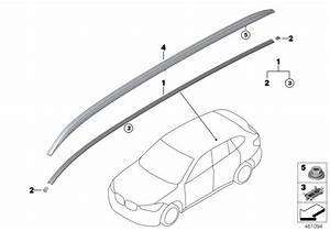 Bmw X1 Roof Rails Aluminium Satinated Left  Trim  Exterior  Body - 51137356433