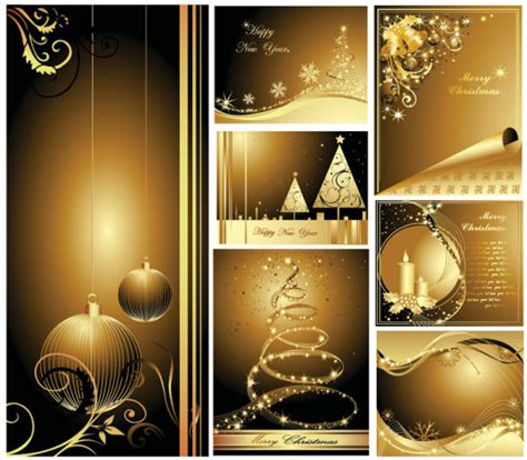 beautiful gold christmas card vector graphic hive
