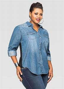 Gorgeous Plus Size Denim Shirt Outfits u2013 Carey Fashion