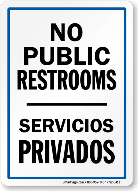 Funny Bathroom Signs To Print - Public bathroom signs