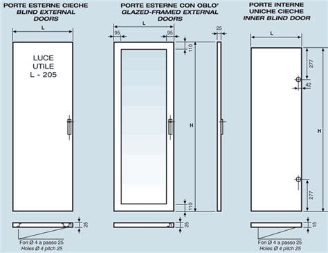 porte interne uniche cieche serie  da armadi rack