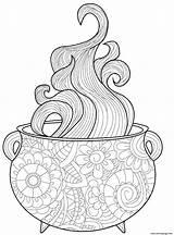 Cauldron Intricate Vapor Vapeurs Complexe Chaudron sketch template