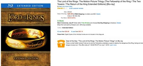 Own The Lord Of The Ring Trilogy (extended Editions) On