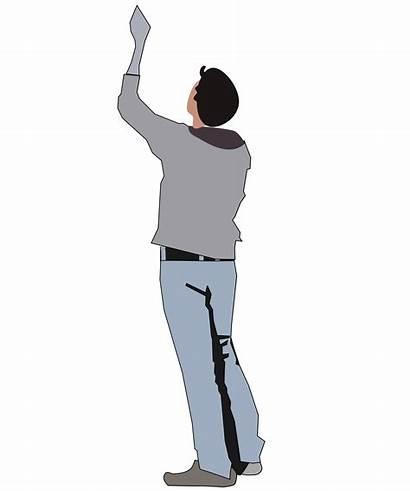 Reaching Clipart Silhouette Person Looking Cartoon Clip