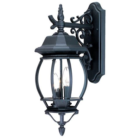 acclaim lighting chateau collection 3 light matte black