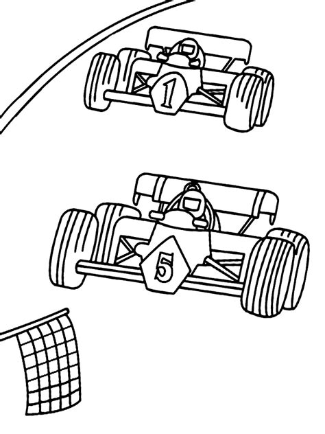 race coloring pages    print