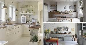 Cuisine campagne chic 9 magnifiques idees de deco for Idee deco cuisine avec meuble salle a manger chene blanchi
