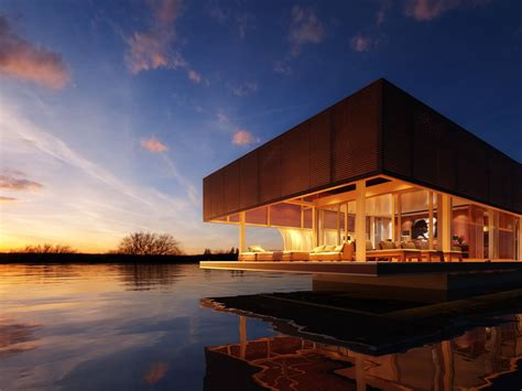 Houseboats Designs by The Waterlovt Luxury Houseboats Are Eco Friendly Self