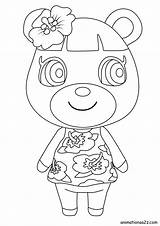 Crossing Coloring Animal Characters Villager sketch template