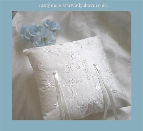 wedding ring bearer cushions personalised wedding silk ring pillows