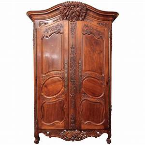Louis XV Walnut Armoire Du Marriage For Sale At 1stdibs