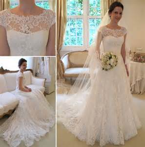 lace wedding gowns with sleeves new arrival lace a line princess wedding dresses 2016 with cap sleeves products 27dress