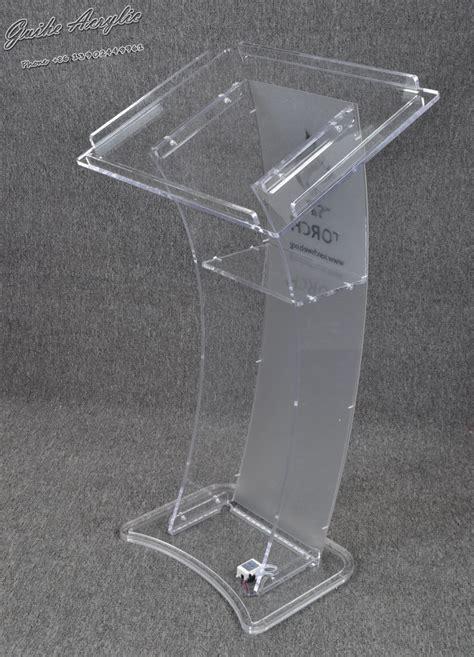 guiheyun carved design cheap clear modern acrylic podium