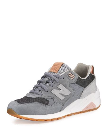 New Balance 580 Suede Lowtop Sneaker, Gray