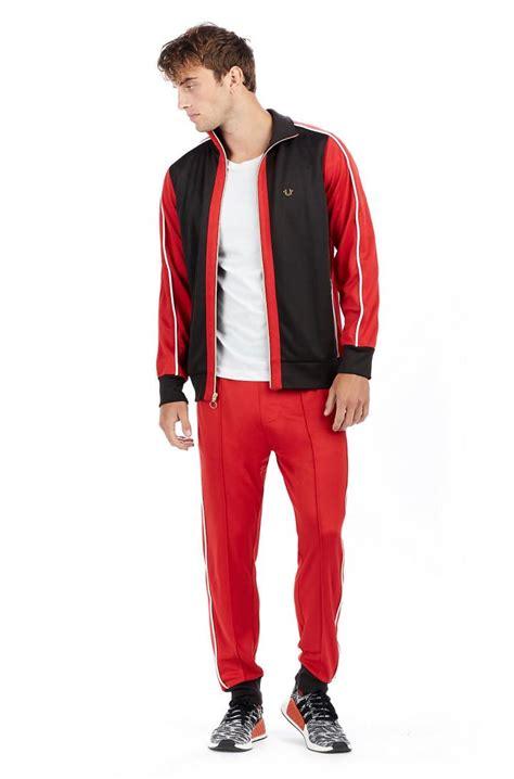 Mens True Religion Clothing - Track Jacket Ruby Red u00bb STC NYC
