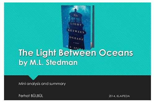 the light between oceans pdf free download