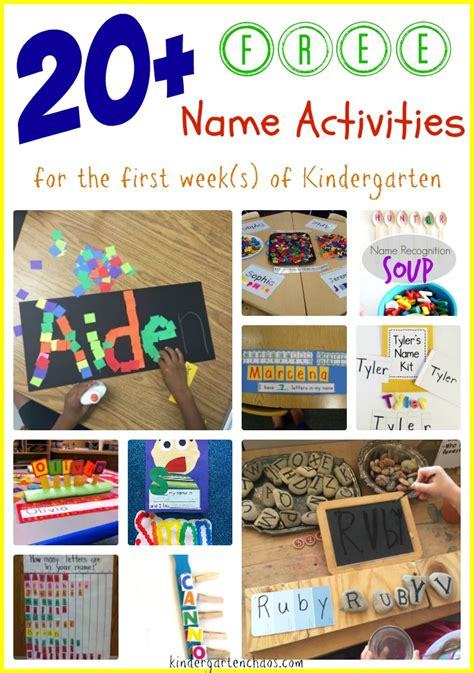 20 free name activities for the week of kindergarten 879 | 20 FREE Name Activities for the first week of Kindergarten kindergartenchaos.com