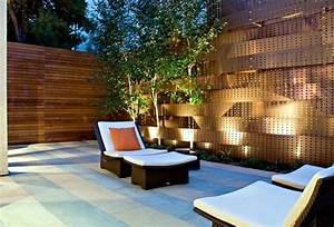 28 interessante sichtschutz ideen fur garten With markise balkon mit tapete aus echtem stein