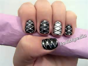 Black and silver nail design designs picture