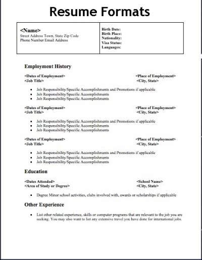 Optimizing different resume format types for applicant tracking software. Different Types Of Resume Formats That Will give Your ...