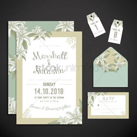 wedding invitation icons vector image