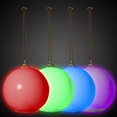 led christmas ornament light up novelties