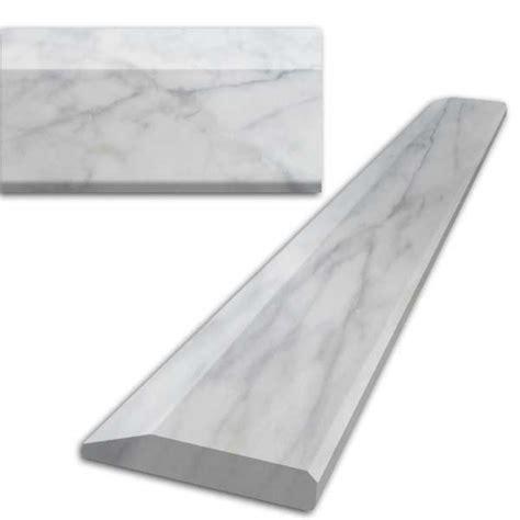 marble saddle saddles corners hollywood saddle marble white 6x36