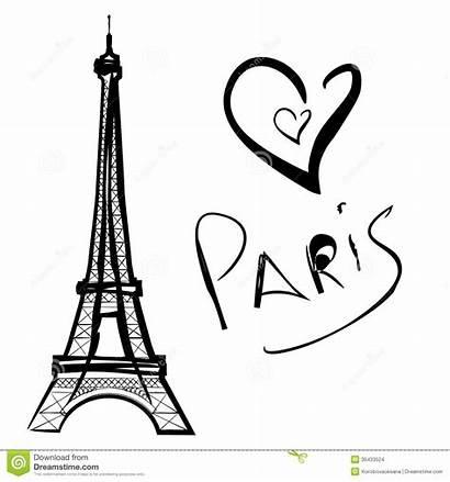 Paris Eiffel Tower Tour Torre Dessin