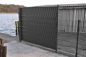 Stabgitterzaun Sichtschutz Einflechten : 28m pvc recinzione grigio frangivento staccionata protezione antirumore ebay ~ Yasmunasinghe.com Haus und Dekorationen