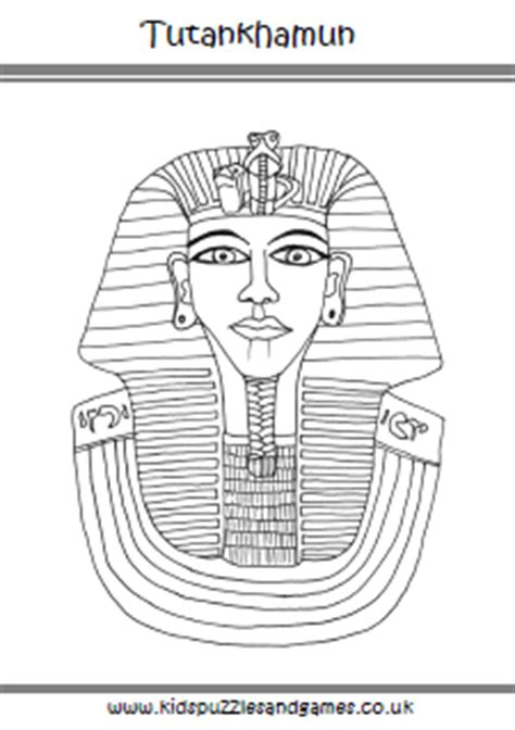 tutankhamun colouring page kids puzzles  games